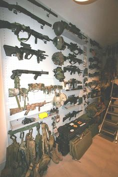 ...because if I had (1) disposable income, and (2) a man cave, this is what one wall would look like. ;)