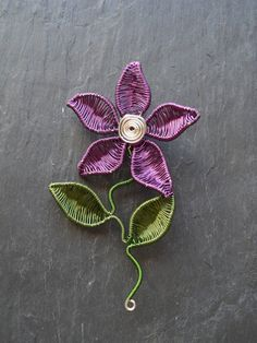 Hey, I found this really awesome Etsy listing at https://www.etsy.com/listing/271447729/purple-pointed-petal-flower-brooch-hat