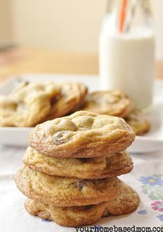Must try making these when I get the fancy flours. Supposed to be the best chocolate chip cookies EVER. We'll see...