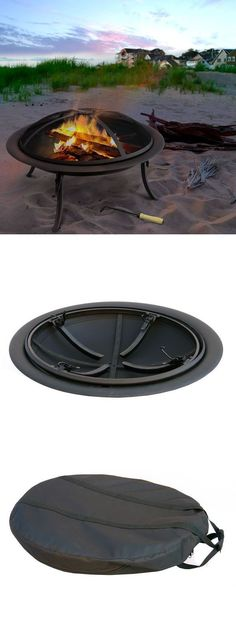 Easily take this fire pit to the beach, camping, tail-gating, and more!   On-The-Go Fire Pit #camping #fire