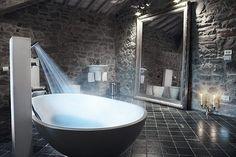 Inspiratie/ Ideeën: industriële badkamer met industriële badkamermeubels