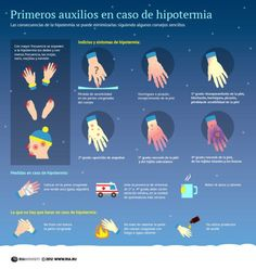 Primeros auxilios en casos de hipotermia