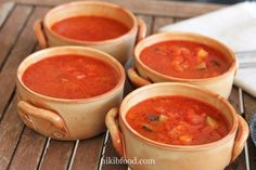 Tomato soup with vegetables, A healthy and easy to make soup. Tomato Soup, Fresh Vegetables, Salsa, Mexican, Healthy, Ethnic Recipes, Soups, Food, Tomato Soup Recipes
