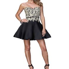 A229 sweetheart appliques short prom dresses, top selling a line homecoming dress, lace appliques homecoming dress
