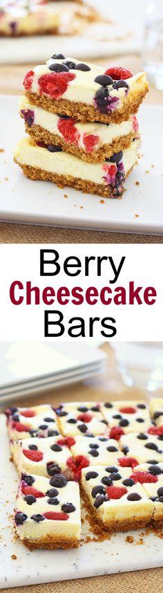 recipes triple berry cheesecake squares aspx