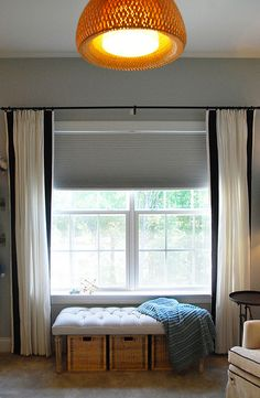 Adding blackout liner to blinds Baby Room Design, Baby Room Decor, Diy Bedroom Decor, Diy Home Decor, Bedroom Ideas, Living Room Bench, Living Room Update, Ikea Curtains, White Curtains