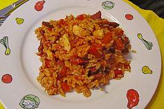 Amerikanisches Jambalaya mit Shrimps, Hähnchenbrust und Würstchen | Chefkoch.de