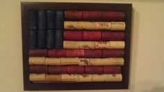 American Flag made out of Wine Corks!