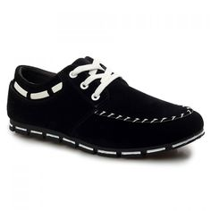 Fashionable Lace-Up and Round Toe Design Men's Casual Shoes, BLACK, 44 in Men's Shoes | DressLily.com