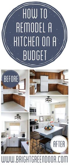 REMODEL A KITCHEN ON A BUDGET *OUR KITCHEN REVEAL!* | Home Decoration