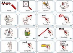 Mémo des consignes French Teaching Resources, Teaching French, Organization And Management, Classroom Management, French Lessons, English Lessons, Basic French Words, Makaton Signs, French Worksheets