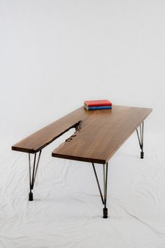 SALE Black Walnut Abstract COFFEE TABLE  by ElpisWorks on Etsy, $495.00. I don't know why I love this, but I do!