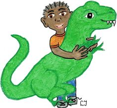"Cover art for ""Isaiah and T Rex""  -- book by Elizabeth Jensen"