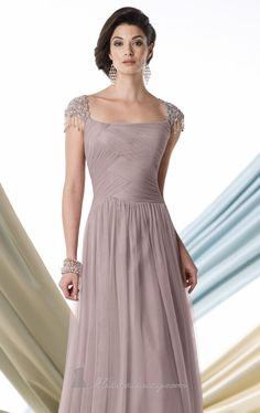 Cap sleeve.  Tulle.  Love the bodice.  Also in navy and eggplant.  Mon Cheri 213971 by Mon Cheri Montage