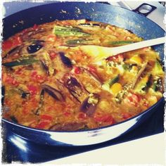 Eggplant and Okra...this was devine! Perfect recipe to use up all the eggplant and okra my mamma gave me straight from her garden