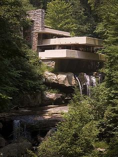 Fallingwater, Bear Run, Pennsylvania, designed by Frank Lloyd Wright