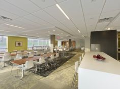 Crosspoint - Interior Amenities spaces - Full service Cafeteria & Dining area