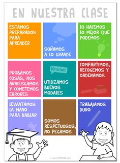 For Spanish classroom or Spanish preschool Normas de clase - Primaria - Pipo