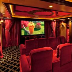 Small home theater design ideas. The most elegant home theater setup ideas for your house. Home theater design plans for small space room. Home Theater Wiring, Home Theater Setup, Best Home Theater, At Home Movie Theater, Home Theater Speakers, Home Theater Projectors, Home Theater Design, Home Theater Seating, Home Cinema Room