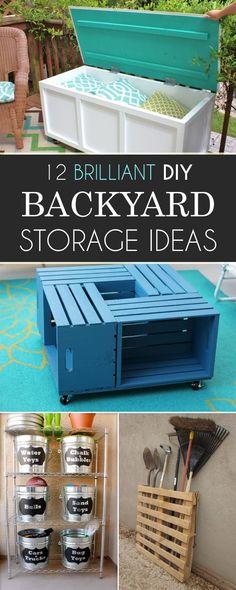 12 Brilliant DIY Backyard Storage Ideas You Need to Try