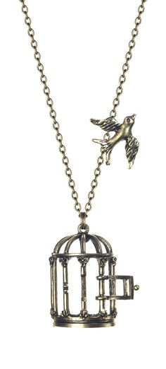 BEST SELLER! Glam Naturale Vintage Style Bird Cage Necklace - Unique Vintage - Prom dresses, retro dresses, retro swimsuits.