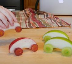 Who knew apples, tooth picks, and grapes could be so fun!