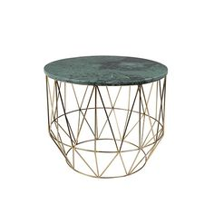 The outstanding green marble and brass Boss side table makes the statement you're looking for! Green Marble, Marble Top, Vert Metal, Brass Side Table, Table Design, Boho Living Room, Indoor Air Quality, Wood Species, Types Of Wood