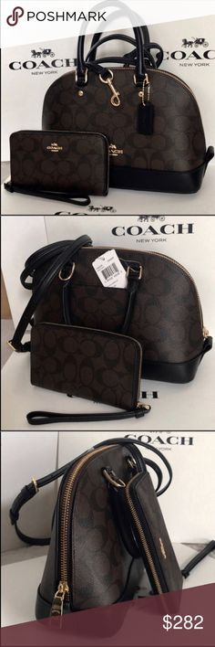 Coach Set 100% Authentic Coach Purse Crossbody and Wallet, brand new with tag! Coach Bags Crossbody Bags
