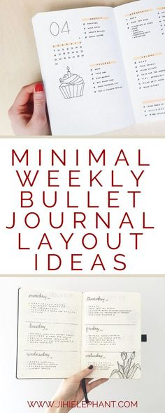 Weekly layouts are often the most prevalent layouts in a bullet journal. When you create this layout so often, you might become bored or tired of the same layout all the time. I like to change up my layouts every so often and keep them fairly minimal. Bel