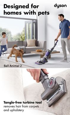 With powerful suction and specialized tools, the Dyson Ball Animal 2 removes pet hair, dust and dirt from your home. Discover the features that makes this vacuum unique.
