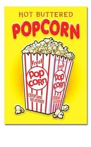 Image detail for -Popcorn Movie Theater Movies Sign Decor Tin Advertising Vintage ...