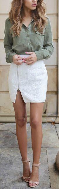 Button down + side zipper.