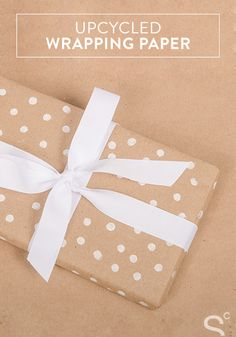 Show your friends how much you care this holiday season, by wrapping their gifts in upcycled DIY wrapping paper.