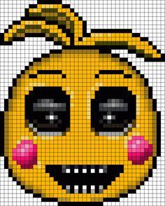Toy Chica At Night Perler Bead Pattern / Bead Sprite