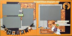 Create these two adorable Halloween layouts at the October club parties.  Kits include:  Pre-cut Moonlight papers, Moonlight Complement...