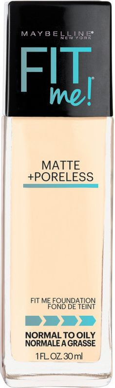 This stuff is amazing and my absolute favorite!  Maybelline Fit Me Matte + Poreless Foundation