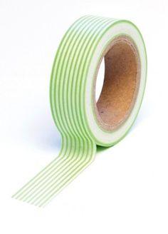 Green Stripes Trendy Tape