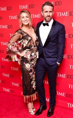 Blake Lively and Ryan Reynolds from Time 100 Gala 2017: Red Carpet Arrivals From a cleavage-baring dress and blue tux, the duo had all eyes on them at red carpet gala.