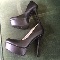 NWT Matte black platform stilettos Beautiful platform stilettos. Never worn! Shoes Heels