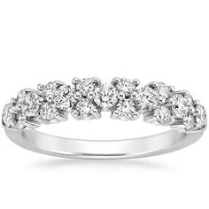 this is the band i LOVE  Platinum Celeste Diamond Ring (3/4 ct. tw.) from Brilliant Earth