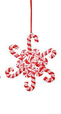 Candy Cane Christmas Decorations Hand Painted Candy Cane Christmas Ornament Set 6  Ornaments