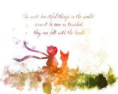 El pequeño príncipe citar Poster corazón Le Petit por wtfoxart