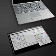 "only a conceptual design.. of an ""external touch screen"" that can be an extra screen (for photoshop toolbars, etc), a keyboard, or a photo frame."