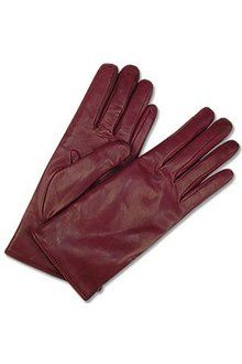 838738b5c7f0 Forzieri Burgundy Cashmere Lined Italian Leather Gloves - Lyst Leather  Gloves