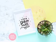 Succulents Frame Flatlay Mockup - Two Frame Styles - Stock Photography for Calligraphy and SVG Designs Succulent Frame, Flat Lay Photography, Flatlay Styling, Sell On Etsy, Planting Succulents, As You Like, E Design, Instagram Accounts, Mockup
