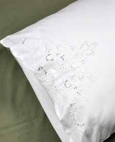 This is a set of 2 linen pillowcases with a beautiful cutwork design of roses. Guaranteed to dress up any bedroom. Each pillowcase measures approx. 20 x 30 and will fit any standard or queen size pillow. Bed Linens, Linen Bedding, Bedding Sets, Bed Pillows, Pillowcase Tutorial, White Bedrooms, Linens And Lace, Cutwork, Queen Size