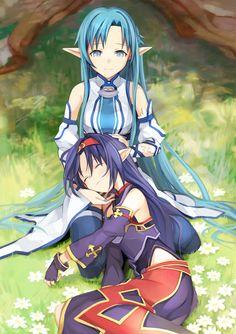 Asuna and Konno Yuuki Mother's Rosario Arc Sword Art Online II