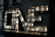 DIY Projects with Letters • Lot's of easy tutorials, including this DIY marquee letter project by 'Newly Woodwards'!