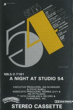 A Night at Studio 54 on Cassette Tape. Rare! See at Cassette and Video Corner now!