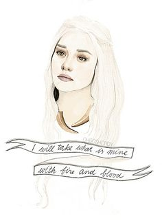 Daenerys Targaryen watercolour portrait PRINT Game of Thrones by ohgoshCindy